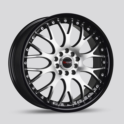 Drag Wheels DR19 - Gloss Black Lip with Machined Face Rim