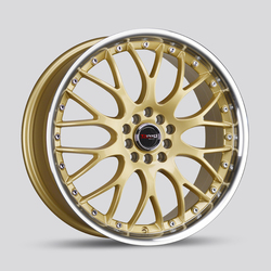 Drag Wheels DR19 - Gold with Machine Lip Rim