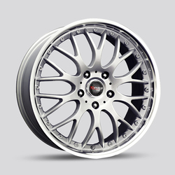 Drag Wheels DR19 - Silver with Machined Lip Rim