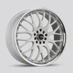 Drag Wheels DR19 - White with Machined Lip Rim - 18x7.5