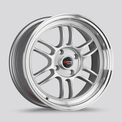 Drag Wheels DR21 - Silver with Machined Lip Rim - 15x7