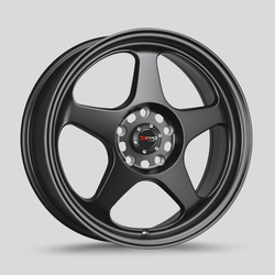 Drag Wheels DR23 - Flat Black Rim - 15x6.5