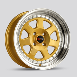 Drag Wheels DR27 - Gold with Machine Lip Rim