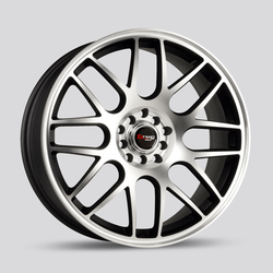 Drag Wheels DR34 - Flat Black / Machined Face Rim
