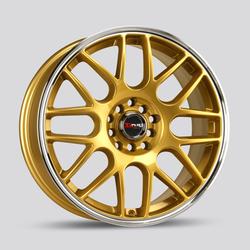 Drag Wheels DR34 - Gold with Machine Lip Rim