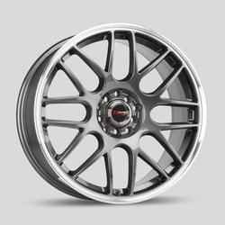 Drag Wheels DR34 - Gun Metal with Machined Lip Rim