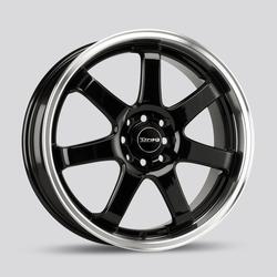 Drag Wheels DR35 - Gloss Black with Machined Lip Rim
