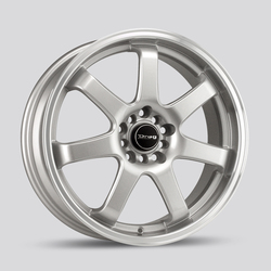 Drag Wheels DR35 - Silver with Machined Lip Rim - 17x7.5