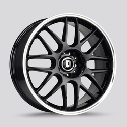 Drag Wheels DR37 - Gloss Black / Chrome Lip Rim