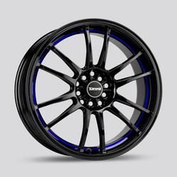 Drag Wheels Drag Wheels DR38 - Gloss Black with Blue Stripe