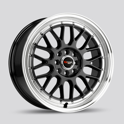 Drag Wheels DR44 - Gloss Black with Machined Lip Rim