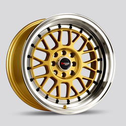 Drag Wheels DR44 - Gold machined lip Rim