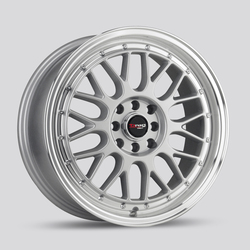 Drag Wheels DR44 - Silver with Machined Lip Rim - 15x7