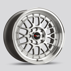Drag Wheels DR44 - Silver with Machined Face Rim
