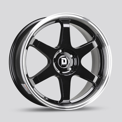 Drag Wheels Drag Wheels DR53 - Gloss Black with Machined Lip