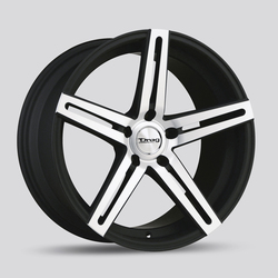 Drag Wheels DR60 - Flat Black with Machine Face Rim