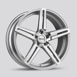 Drag Wheels DR60 - Silver with Machined Face Rim - 20x10