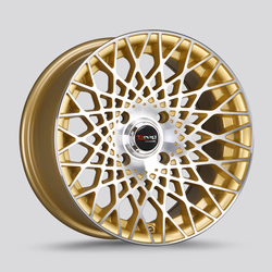 Drag Wheels DR65 - Gold with Machined Face Rim - 15x7.5