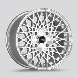 Drag Wheels DR65 - Silver with Machined Face Rim - 15x7.5