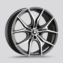 Drag Wheels DR67 - Charcoal Gray with Machined Face Rim