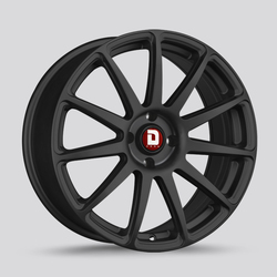 Drag Wheels DR68 - Flat Black Rim - 17x7