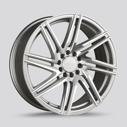 Drag Wheels DR70 - Silver with Machined Face Rim - 18x8