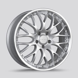 Drag Wheels DR75 - Silver with Machined Lip Rim