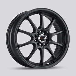 Drag Wheels DR9 - Flat Black Rim - 17x7
