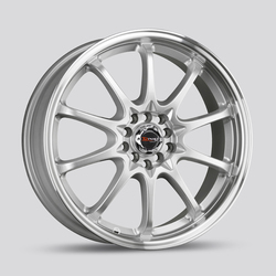 Drag Wheels DR9 - Silver with Machined Lip Rim - 17x7
