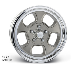 E-T Wheels Five Window Low Angle - Cast Center/Polished Lip Rim