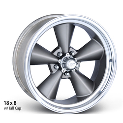 E-T Wheels E-T Wheels Classic V - Cast Center/Polished Lip