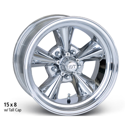 E-T Wheels Classic V (Custom) - Polished Rim - 15x9