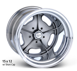 E-T Wheels Dragmaster (Custom) - Cast Center/Polished Lip Rim - 15x9