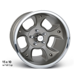 E-T Wheels Fueler - Cast Center/Polished Lip Rim