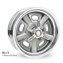 E-T Wheels Indy - Cast Center/Polished Lip Rim - 16x5