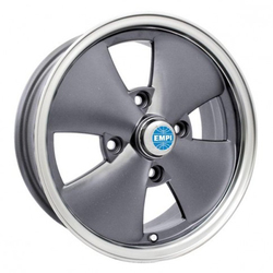 Empi Wheels 4 Spoke - Anthracite w/ Polished Lip Rim