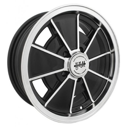 Empi Wheels VW BRM 5-Lug - Gloss Black w/Polished Lip and Edges Rim - 15x6.5