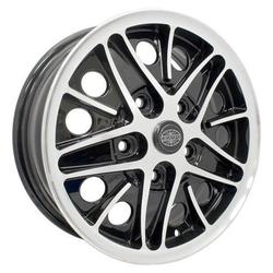 Empi Wheels Cosmo - Gloss Black w/Polished Lip and Spoke Edges Rim