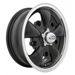 Empi Wheels GT-5 - Gloss Black w/Polished Lip Rim