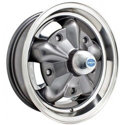 Empi Wheels Torque Star - Anthracite w/ Polished Lip Rim - 15x5