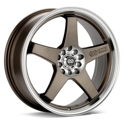 Enkei Wheels EV5 - Matte Bronze with Machined Lip Rim - 17x7