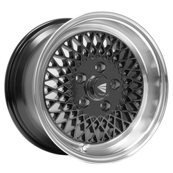 Enkei Wheels Enkei92 - Black with Machined Lip Rim - 15x7