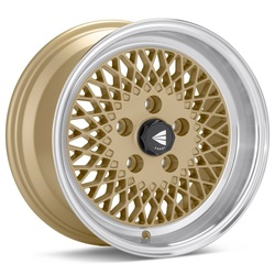 Enkei Wheels Enkei Wheels Enkei92 - Gold with Machined Lip - 15x7