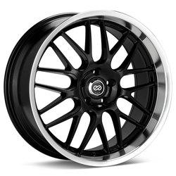 Enkei Wheels Enkei Wheels Lusso - Black with Machined Lip - 18x8