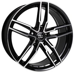 Enkei Wheels SS05 - Black Machined Rim - 17x7.5