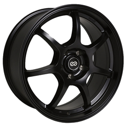 Enkei Wheels GT7 - Matte Black Rim - 15x6.5