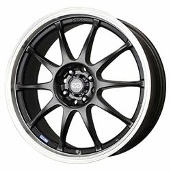 Enkei Wheels J10 - Matte Black with Machined Lip Rim - 15x6.5