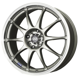 Enkei Wheels J10 - Silver with Machined Lip Rim - 15x6.5