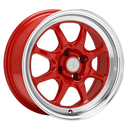 J-Speed - Red w/Machined Lip - 15x8