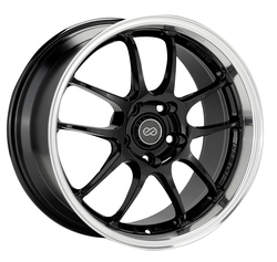 Enkei Wheels PF01 SS - Gloss Black with Machined Lip